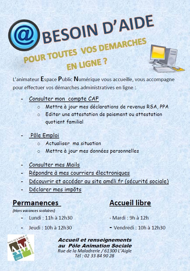 FLYER AIDE ADMINISTRATIF MAI 2016