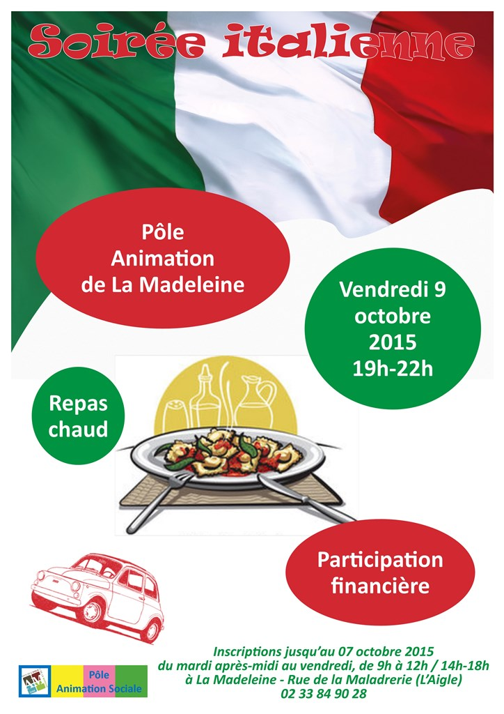 affiche soiree italienne octobre 2015