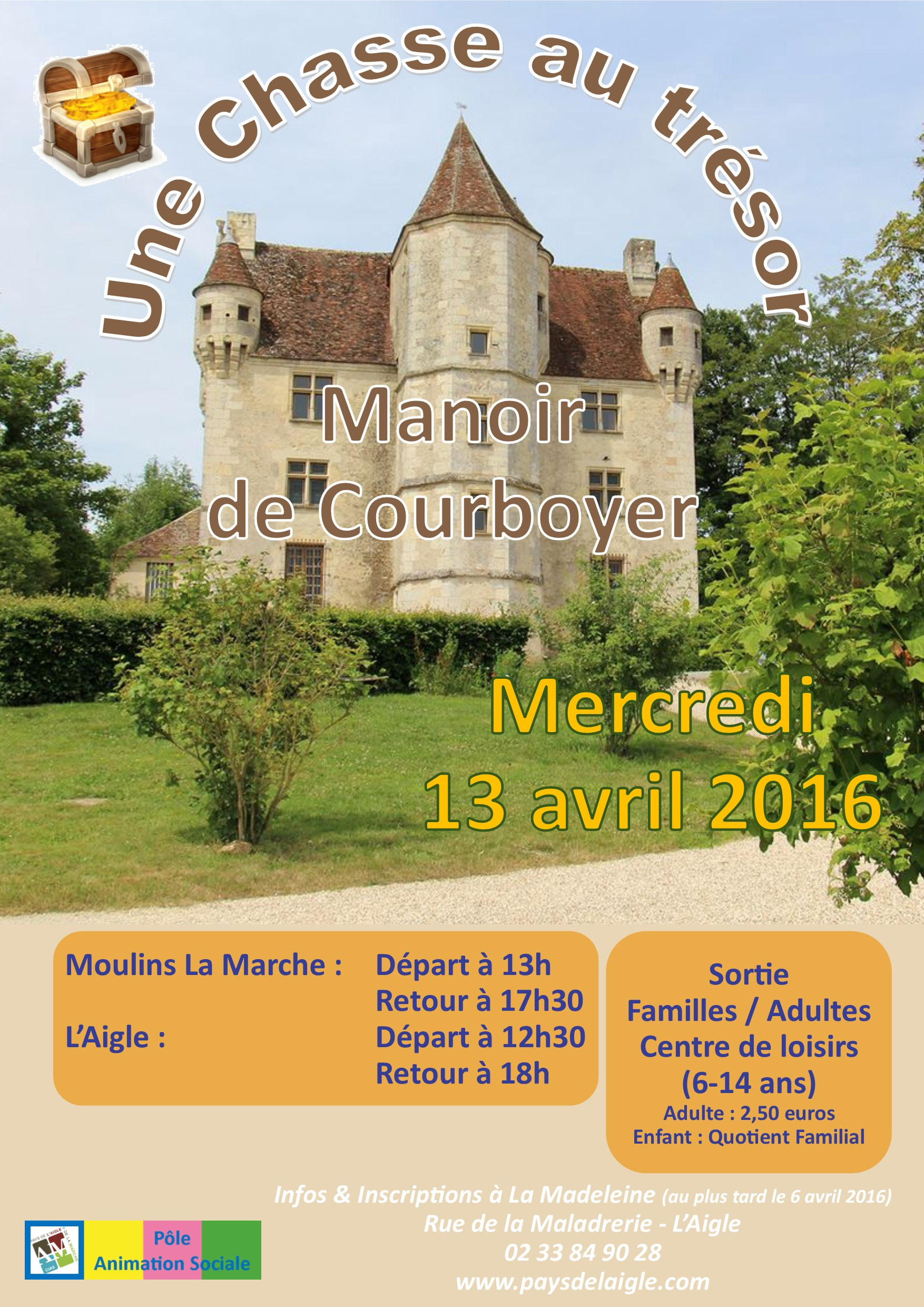 affiche sortie manoir de courboyer avril 2016