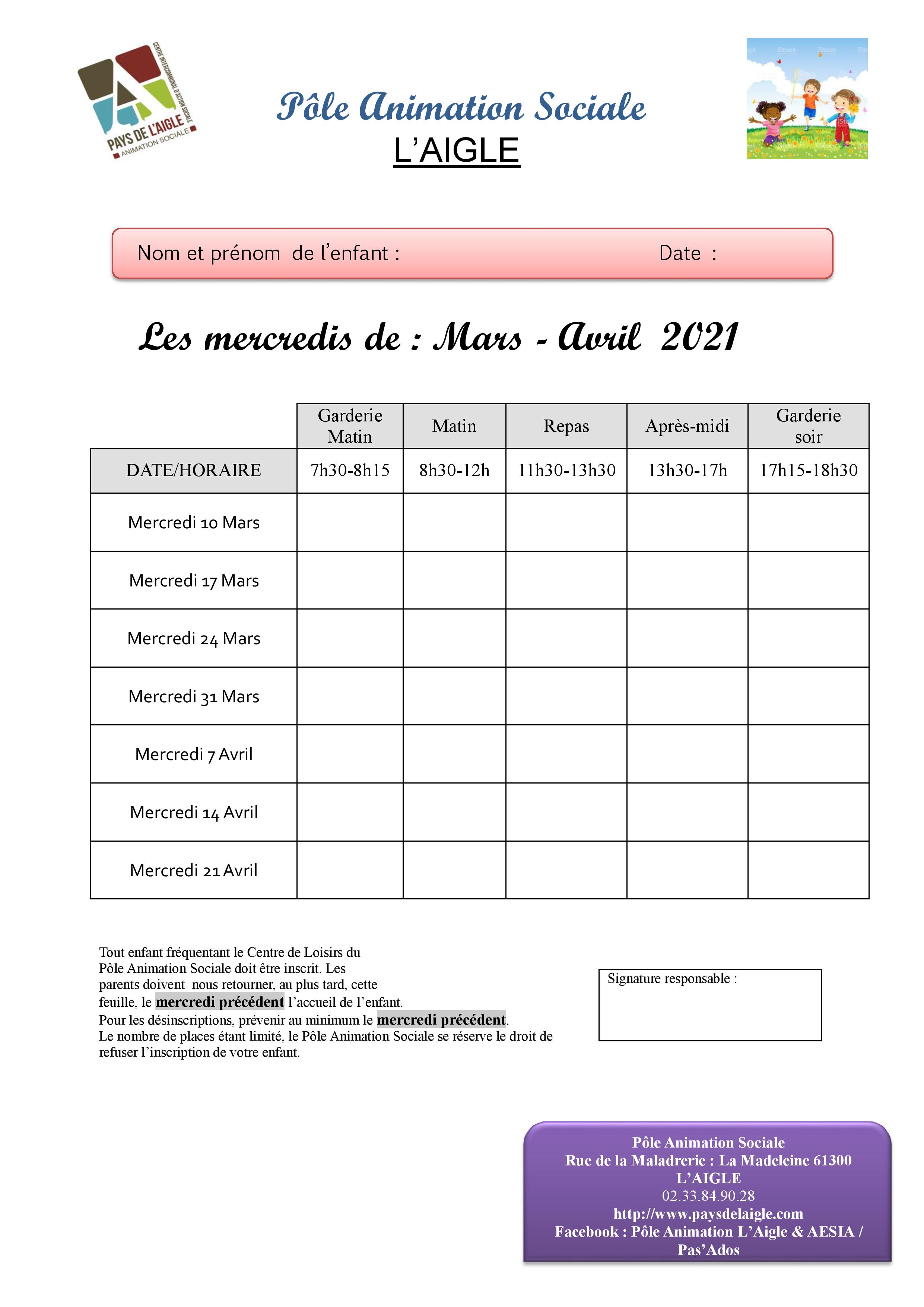 feuille inscrip laigle mercredi mars avril 2021 page 001