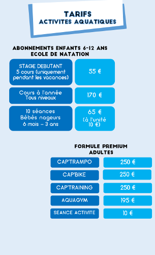 co18 tarifs piscine 700